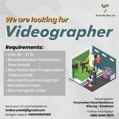 Lowongan Videographer
