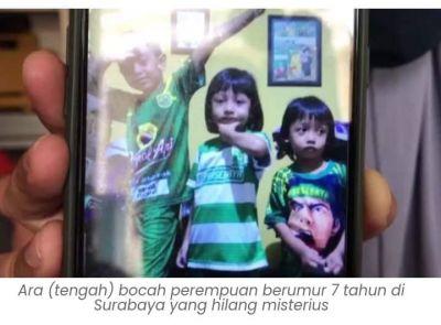 Penelepon Gelap Minta Tebusan Atas Hilangnya Ara Bocah Surabaya